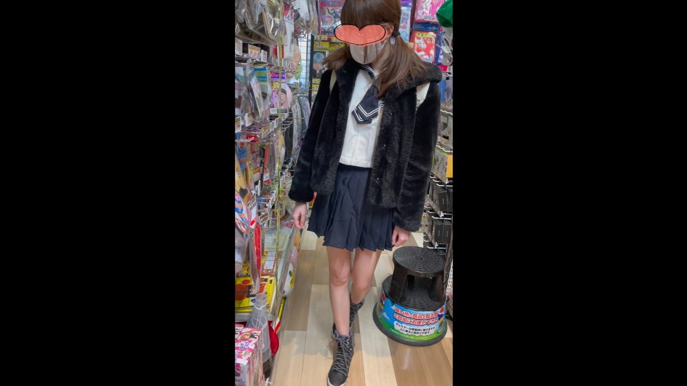 【JKパパ活①】買い物中の超美脚生パンJKを前から後ろから粘着逆さ撮り【4K高画質】画像つき詳細レビュー